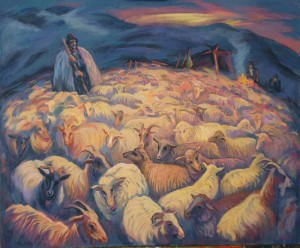 Sheep, My Sheep, 2005, oil on canvas, 80x100