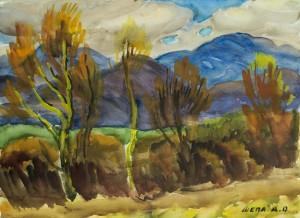 Осінь в Карпатах, пап.акв., 36х48
