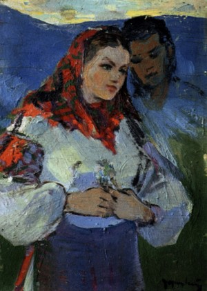 Date, 1960, oil on plywood, 39x29