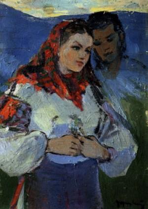 Побачення, 1960, фанера, о., 39х29