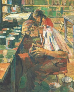 Potters Workshop, 1947, oil on canvas, 67х53,5