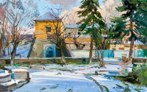 Winter in the City, 2007, oil on canvas, 50x75