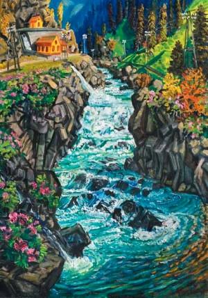 Водопад, 1960-ті рр., 110х74