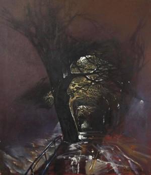 Ніч. Набережна. Туман, 1986, п.о.