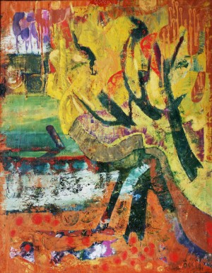 Indian Summer, form the photo archive of Y. Nebesnyk, 1991, oil on canvas, 170x132