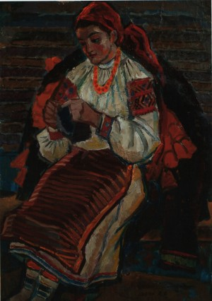 Портрет Гуцулки, 70-ті рр., к.о., 83х60