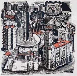 Старостенко Ю. 'Харків сучасний', 1969, лінорит