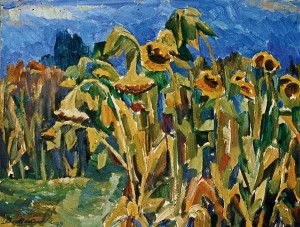 Sunflowers, 1979, пап.о. 75х49