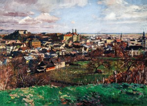 View Of Uzhhorod, 1928, oil on canvas, 80x100