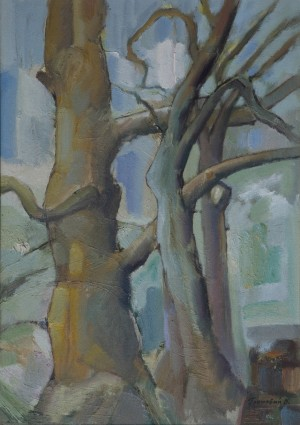 Trees In The Early Spring, 2004, oil on canvas, 70x50