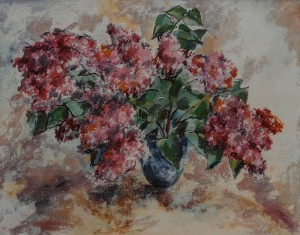 M. Ori Flowers', oil on canvas