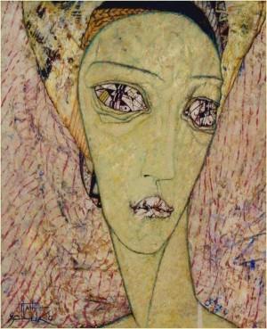 Нефертіті, 1995, т.двп, левкас, жовткова емульсія