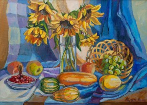O. Peresta 'Still Life With Sunflowers'