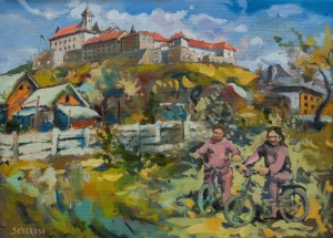 A. Sekeresh Mukachevo Castle', 2017, oil on cardboard, 54x74