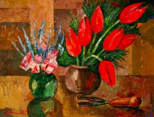 Two Bouquets', 1986, 60x80