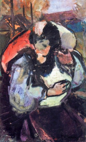 Date, 1940, oil on plywood, 40x25