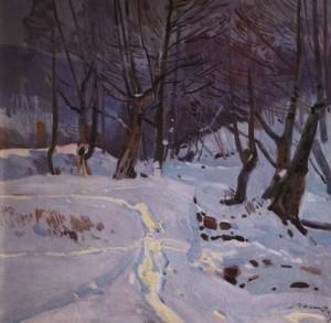 Взимку, 1971, п.о. 75х75