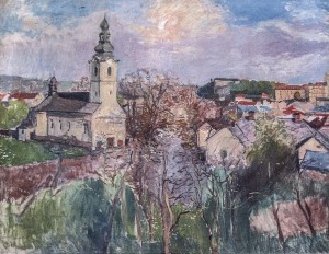 View Of Uzhhorod, 1930s, oil on canvas, 90x120