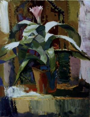Blooming Cactus, 2007, oil on canvas, 70x50