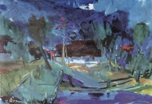 In the Evening, 1960, oil on canvas, 88x102