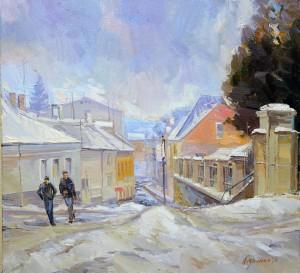 Зима в Ужгороді, п.о., 70х65