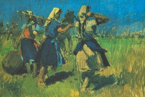 Girls In The Field, 1958, oil on canvas, 58х84