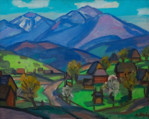 Коцка А. 'Весна в селі Ясіня', 1966