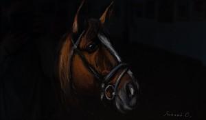 Липчей О. 'Голова коня', 2018