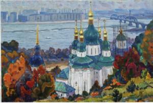 Старий і новий Київ, 1976, п.о., 79х120
