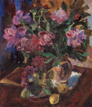 Peonies, 1950-1960, oil on canvas, 70x60.5