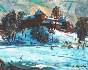 Замок Свірж, 2010, п.о., 60х80