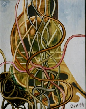 Willow, from the photo archive of Y. Nebesnyk, 1994, oil on canvas, 86x68
