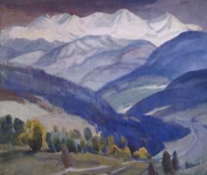 Воловецькі велетні, 1968, п.о. 100х110