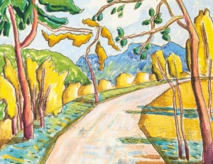 Road To The Mountains, 2008, watercolour on paper, 30x40