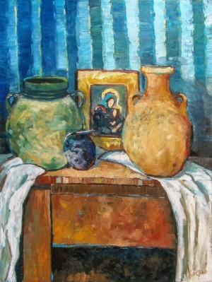 Костьо В. 'Глеки на синьому'
