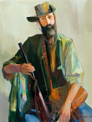 Thoughtful Hunter, 1999, oil on canvas, 70x90