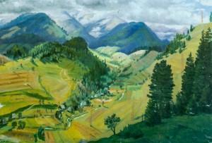 Гірська панорама, 1960-ті рр., п.о. 70х100