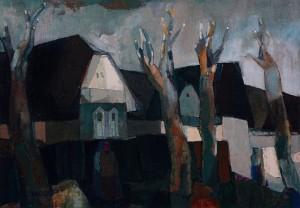 Вечірня вулиця, 2009, п.о., 50х70