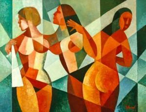 Decorative Composition', 2001, 60x80