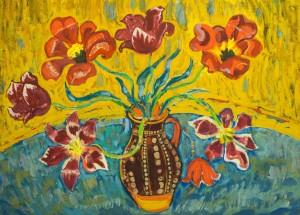 Тюльпани, п.о., 57х78