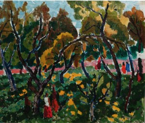 У тіні дерев, 1970, к.о., 56х69