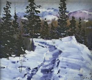 Зимова дорога, 1981, 50x60
