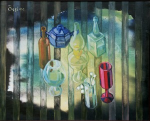 Spring Still Life, from the photo archive of Y. Nebesnyk, 1992, oil on canvas, 96x121