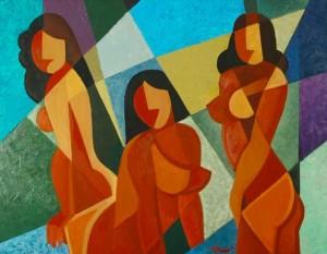 Decorative Composition', 2000, 60x80