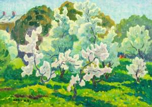 Цвіт яблуні, п.о., 50х70