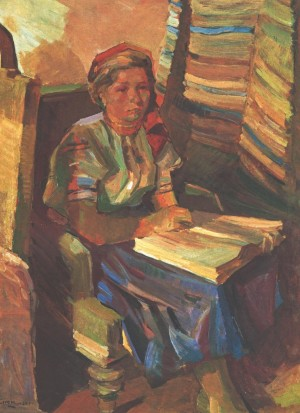Girl With The Book, 1947, oil on canvas, 93х69