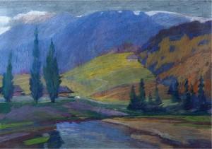 Mountain Scenery, pastel on paper, 50x70