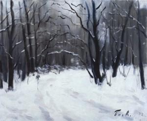 Зимова дорога, 1992, 50x60