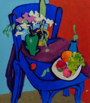 A. Hafynets. Still Life On The Blue Chair, 2017