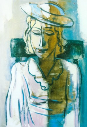 Woman In A Blue Cap, 2008, oil on canvas, 70x60